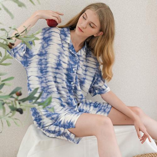 Foto Produk Sadie Set in Light Blue - Sleepwear / Piyama Baju Tidur Rayon by RAHA dari Raha Sleepwear