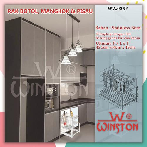 Foto Produk Rak Piring Rak Botol Stainless Winston WW 025F for Kitchen Cabinet dari WINSTON SUKSES ABADI