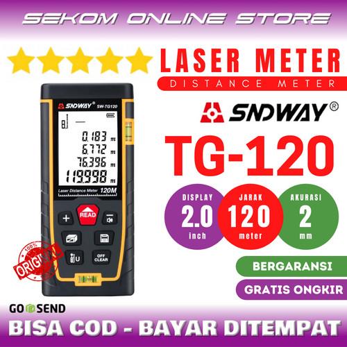 Foto Produk SNDWAY Meteran Laser Digital Distance 120 Meter SW-TG120 dari SEKOM ONLINE STORE