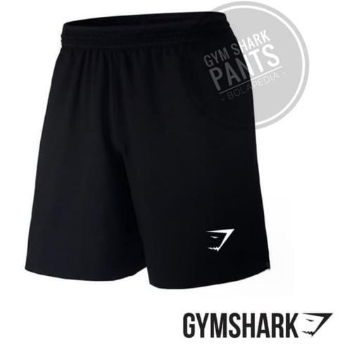 Foto Produk celana pendek sports pria / celana olahraga futsal gym running - HITAM SHARK dari rd_colections