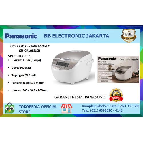 Foto Produk Panasonic Rice Cooker Digital 1 Ltr SR-CP108NSR dari BB ELECTRONIC