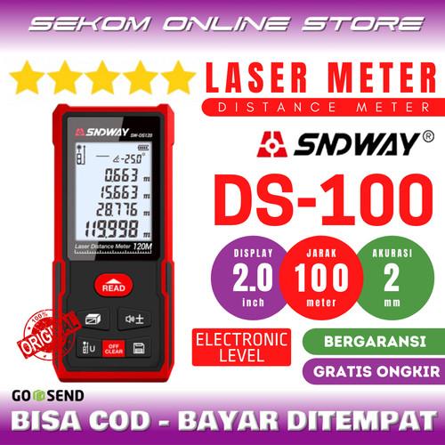 Foto Produk SNDWAY Meteran Laser Digital Distance 100 Meter NEW VERSION! SW DS100 dari SEKOM ONLINE STORE