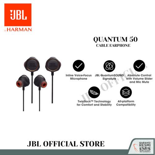 Foto Produk JBL Quantum 50 Headset gaming wired in-ear dari JBL Official Store