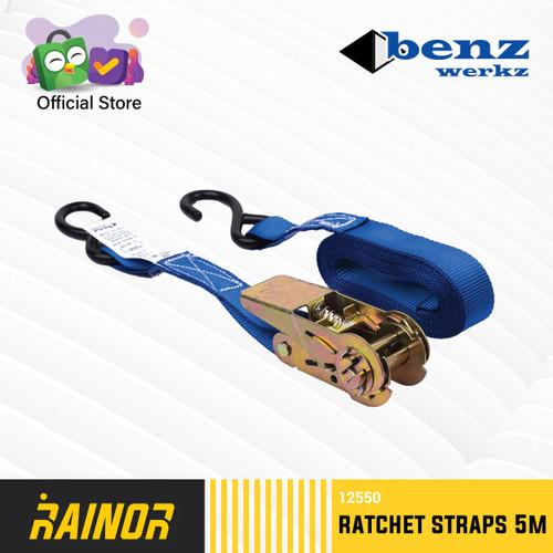 Foto Produk Tali pengikat Barang motor / Ratchet tie down 5meter Benz Werkz dari Rainor Indonesia