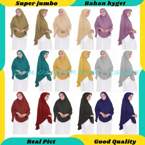 Foto Produk PROMO MURAH - Kerudung Jilbab RB Panjang Jumbo Syari Khimar Rempel - Krem dari tukiyem13 depok