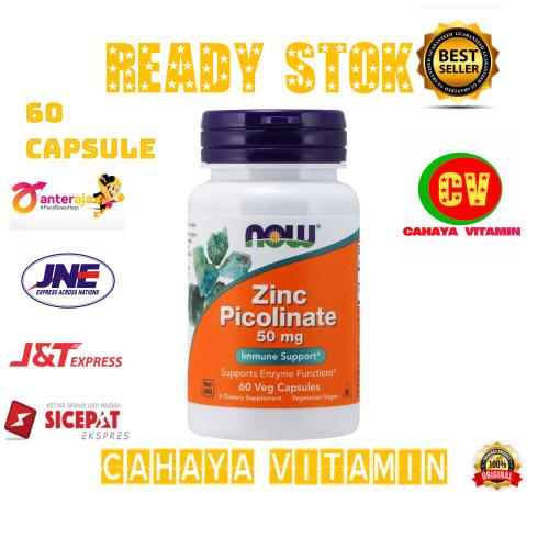 Foto Produk now foods zinc picolinate 50 mg isi 60 capsule dari Cahaya Vitamin