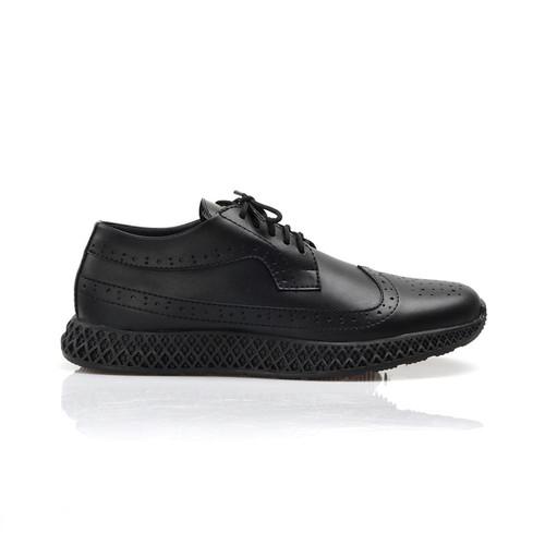 Foto Produk Sepatu Pria Kasual Semi Formal Kerja Kantor Dinas Sneakers Kulit faux - Hitam, 39 dari nazwa shoes