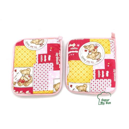 Foto Produk 2 Pcs Lap Cempal Busa / Jampel Anti Panas / Pelindung Tangan dari Dapur Ny.Bun
