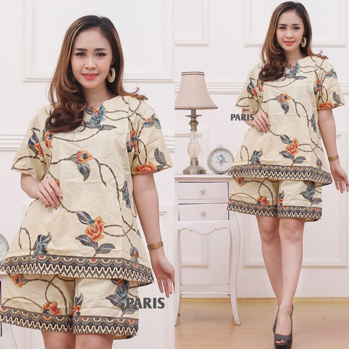 Foto Produk Unggul Batik Setelan Celana Pendek atasan wanita 2 dari Batik Nailadiba