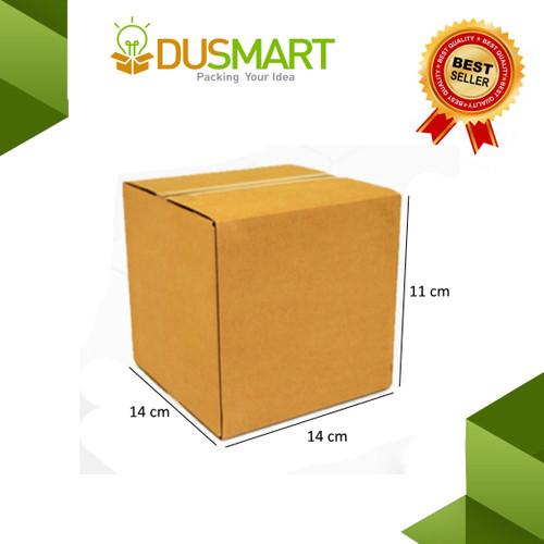 Foto Produk Kardus uk. 14x14x11cm Polos untuk Packing Barang Box Karton dari DUSMART Official Store