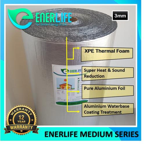 Foto Produk Peredam Panas Atap - Aluminium Foil Atap 3mm Double EnerLife M-3A2 dari Energy Life Indonesia