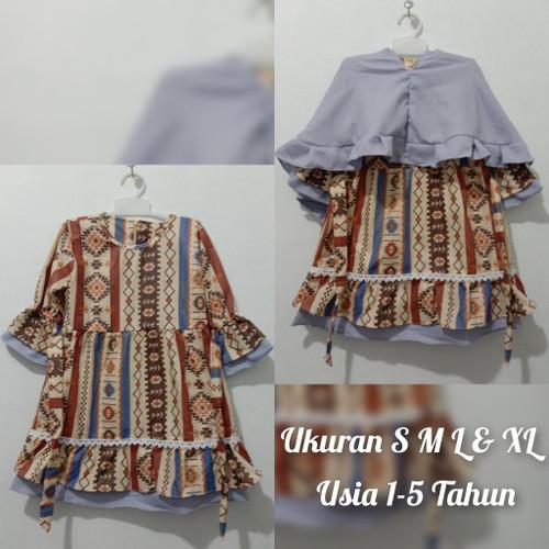 Foto Produk Gamis Anak Perempuan Set Kerudung Usia 5 Tahun - Uk.XL 4-5 tahun dari Amayya_shop