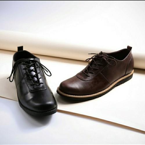 Foto Produk sepatu pantofel kulit boston Gothic sepatu kerja sepatu formal boot dari faiz footwear