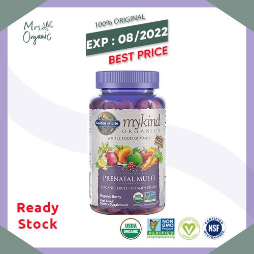 Foto Produk Garden of Life, MyKind Organics, Prenatal Multi, Berry,120 Vegan Gummy dari Mrs Organic