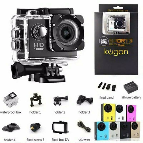 Foto Produk Kogan Action Camera Sport Cam HD DV 12MP 1080P Water Resistant dari TommyAccStore