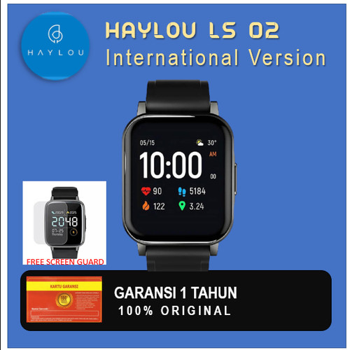 Foto Produk Haylou LS02 Smartwatch 1.4 inch LCD Global Version free Screen Guard dari Deerma Shop
