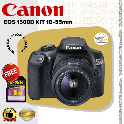 Foto Produk CANON 1300D KIT 18-55mm / CANON1300D / EOS 1300D dari winner,shop camera