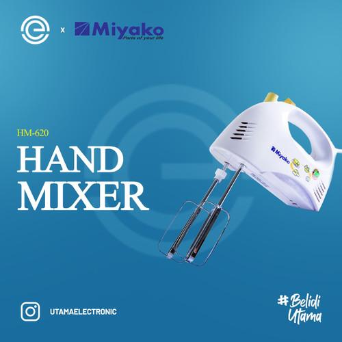 Foto Produk MIYAKO Hand Mixer HM-620 - Putih dari UTAMA_ELECTRONIC