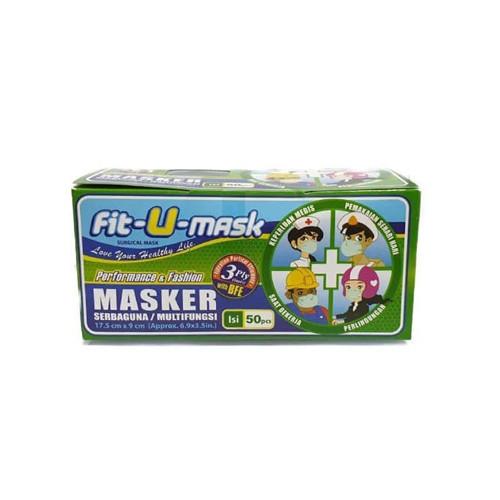 Foto Produk Masker Medis 3ply Medical Mask Surgical Masker Kesehatan isi 50pcs/box - FIT-U dari United Cleaning Official