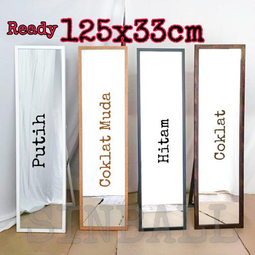Foto Produk standing mirror / cermin berdiri / kaca berdiri premium fiber - Hitam dari sinball_shop