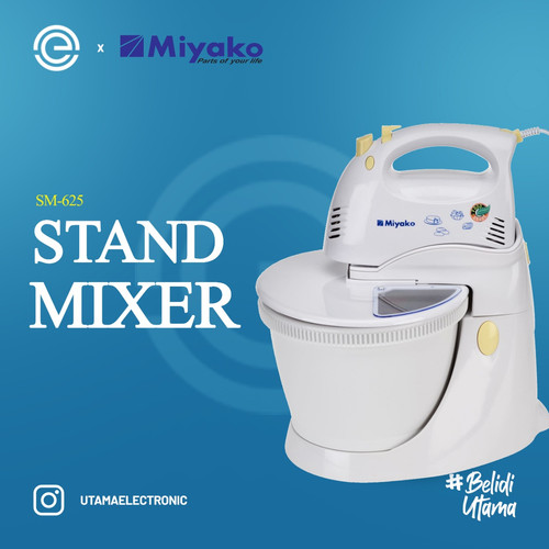 Foto Produk MIYAKO Stand Mixer SM625 - Putih dari UTAMA_ELECTRONIC