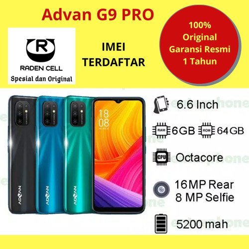 Foto Produk Advan G9 Pro Ram 6/64 GB Handphone Android 4G LTE Murah HP 4G Murah dari Raden  cell