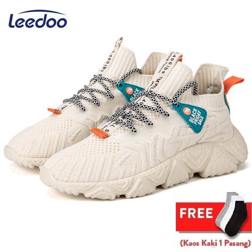 Foto Produk Leedoo Sepatu Import Sneakers Pria Sepatu Running Olahraga MR123 - Cokelat, 39 dari Leedoo