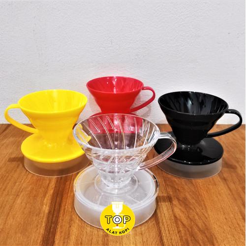 Foto Produk Coffee dripper kopi drip V60 Muranee 1-2cup murah meriah cakep - Hitam dari TOP alat kopi