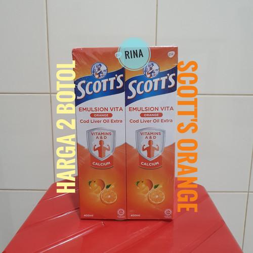 Foto Produk Scott's Malaysia Rasa Orange Jeruk Emulsion Vita Cod Liver Oil Extra dari Rina