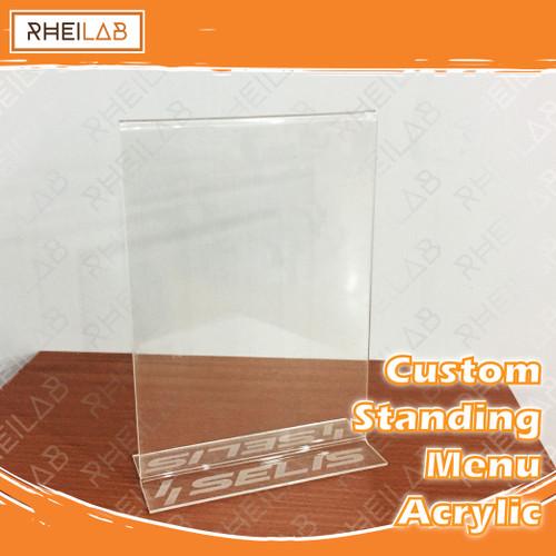 Foto Produk Standing Menu Acrylic / Menu Berdiri Akrilik Tempat QR / QRIS - Polos dari RheiLab