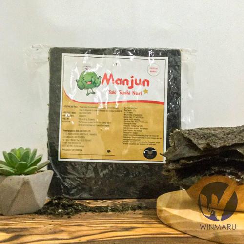 Foto Produk Sushi Nori Manjun Seaweed Rumput Laut 50 sheets/lembar dari winmaru
