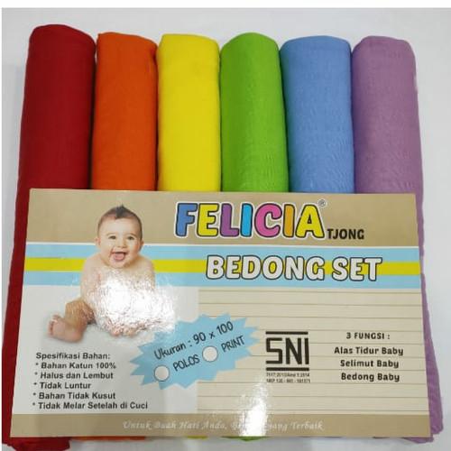 Foto Produk Bedong Bayi Polos / Rainbow FeliciaTjong isi 6 uk 90 x 100 cm - Tua dari Heartbaby38
