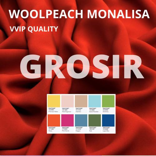 Foto Produk Kain Wollpeach / Kain Wolfis / Kain Wolvis Monalisa Yards Grosir dari Toko Brukat