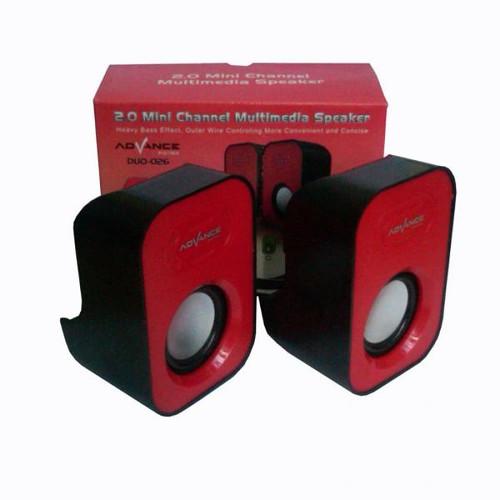 Foto Produk Advance Duo-026 Speaker - Merah dari Palugada Distribusi