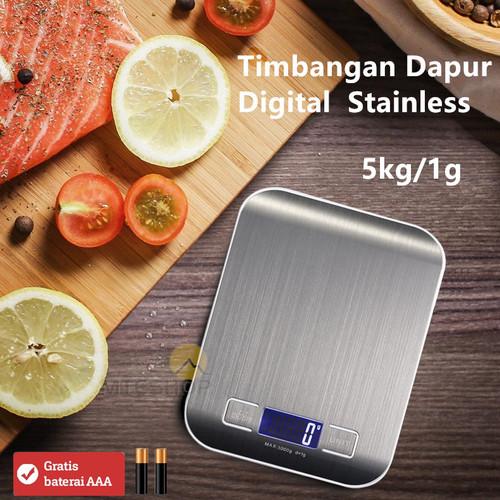 Foto Produk Timbangan Dapur Kue Digital Stainless 5 Kg /0.1G dari MTEshop