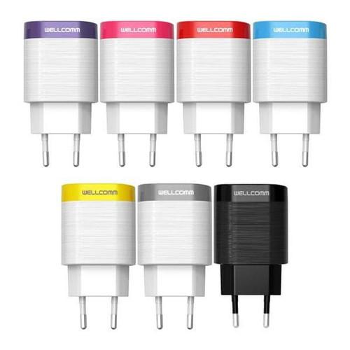 Foto Produk Charger Wellcomm Elegant 2.1A Adaptor Charger Cable Micro dari PojokITcom Pusat IT Comp