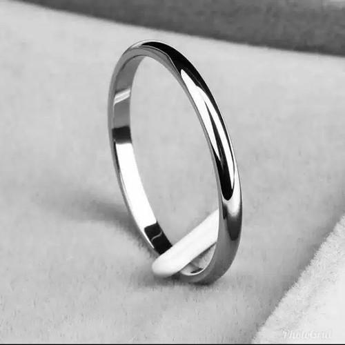 Foto Produk cincin titanium couple tipis - Putih, 18 dari aksesorisolsopp89
