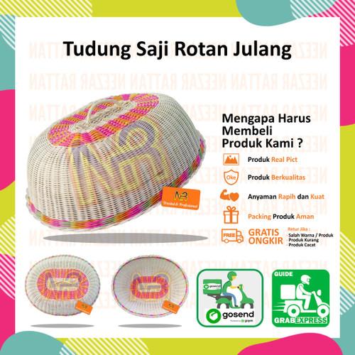 Foto Produk Tudung Saji Penutup Makan Rotan Kulit Unik model Julang dari Berkah Jaya Rattan