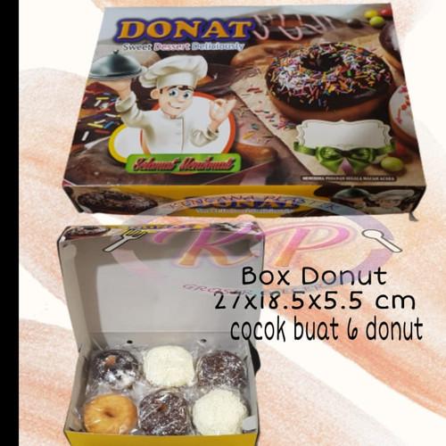 Foto Produk Box Dus Donat ukuran 27x18,5x5,5 cm dari Toko Kencana Plastik
