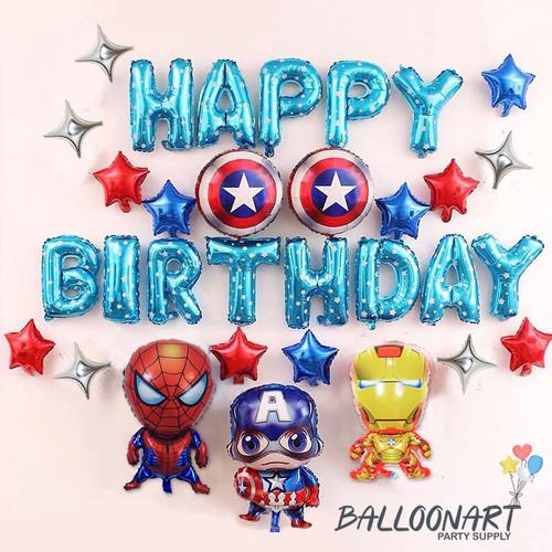 Foto Produk Avengers Birthday Set/Dekorasi Ulang Tahun/Balon Karakter/Balon Foil dari BalloonArt Party Supply