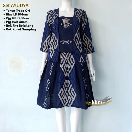 Foto Produk baju batik etnik set stelan rok blouse tenun dari Batik Sri