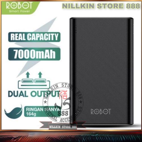 Foto Produk POWERBANK ROBOT RT7500 7000MAH 2 USB TYPE C CHARGER SLIM POWER BANK PB dari Nillkin Store 888