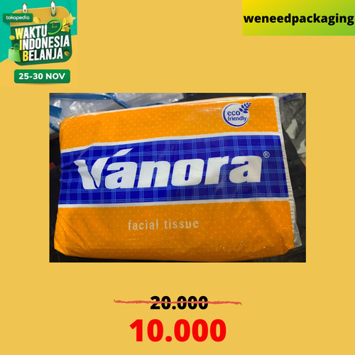 Foto Produk TISSUE VANORA 350 GRAM 2 ply Murah Termurah / Facial Tissue dari weneedpackaging