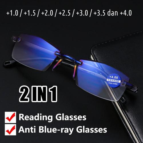 Foto Produk Kacamata Baca Pria Wanita Tampilan Trendy dan Anti Radiasi Sinar UV - Plus 1.5 dari Ansharas