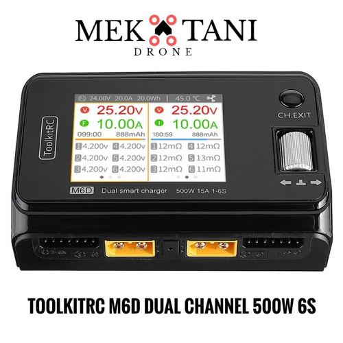 Foto Produk ToolkitRC M6D Dual Channel Lipo XT60 500W Charger - M6D Charger dari MekataniDrone