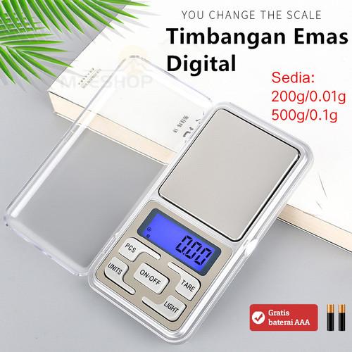 Foto Produk Timbangan Mini Digital (Emas/Perhiasan/Pocket Scale) - 200g 001g dari MTEshop