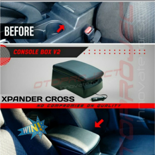 Foto Produk Console Box Xpander Cross Armrest Konsol USB Consule Hitam Otoproject dari win jaya mtr