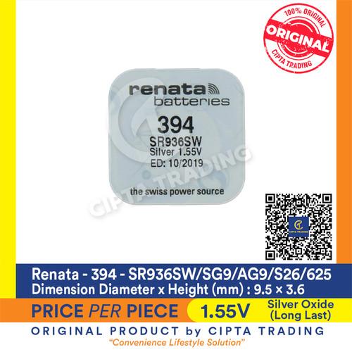Foto Produk Button Cell - Renata - 394 (SR936SW) dari Cipta Trading