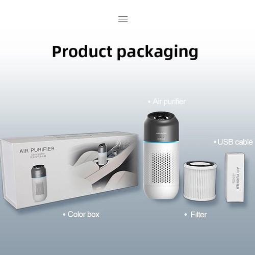 Foto Produk Portable Car Air Purifier dengan HEPA Filter - Menyaring Udara Kotor! - 1 set dari hobbygaming