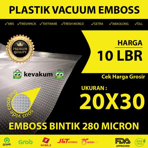 Foto Produk Plastik Vacuum Embos 20x30 Plastic Bag Embossed Vacuum Emboss Dot dari KEVAKUM - Kemasan Vakum